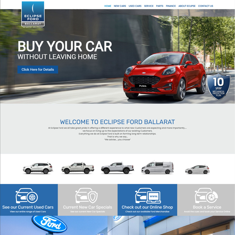 Eclipse Ford New Website